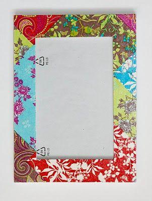 Ramka- kolorowy patchwork