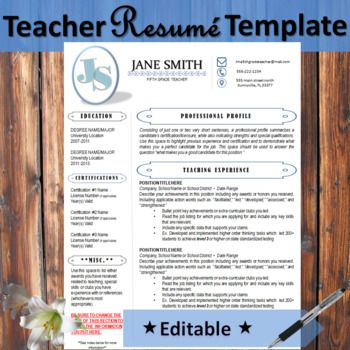 This resume has a cute tribal arrow design for just the slightest pop of flair. In the corner, you can choose to stand out but adding your initials in any color that fits your style or you may choose to add a photo of yourself to make a good impression.