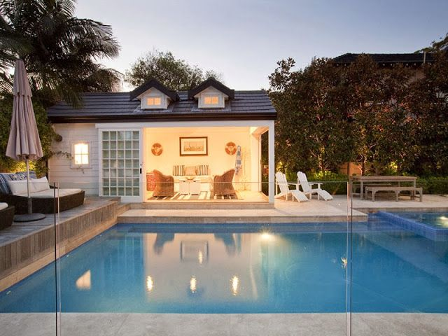 driftwood interiors: Hamptons pool house in the heart of Sydney