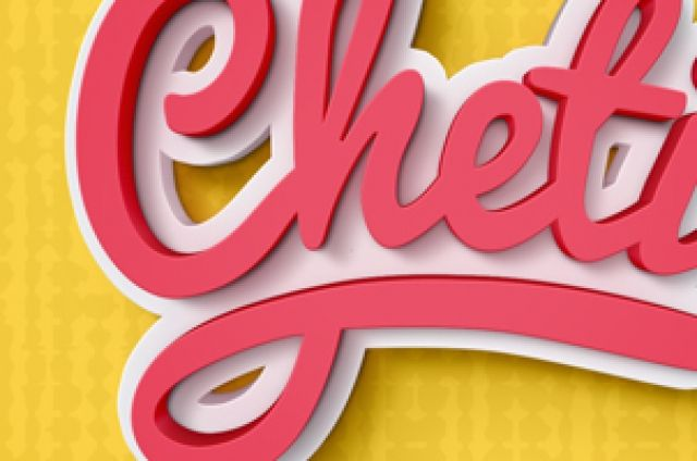 Cheti is a colorful and fancy 3D photoshop text effect to illustrate your next project. Easily add your own text thanks to the smart layer.
