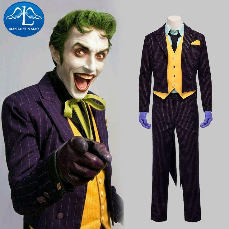 Manluyunxiao 2017 nouvelle hommes de batman arkham asylum joker costume  pour homme halloween cosplay costume fait sur commande vente chaude