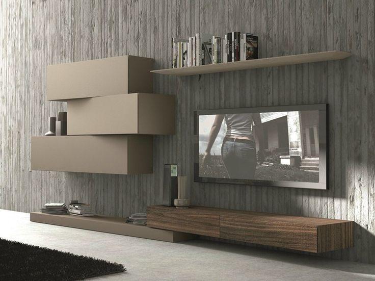... su Mobili Porta Tv su Pinterest  Stoccaggio soggiorno e Tv nascosta