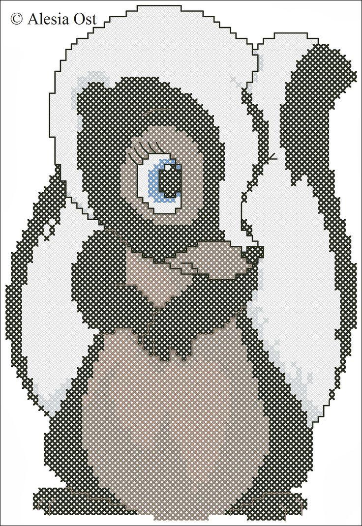 X-Stitch Magic: Flower the Skunk