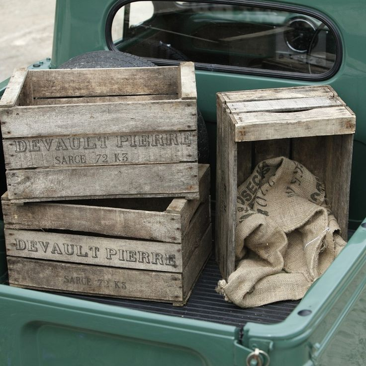 Old Wooden Crates | Vintage Crates | Apple Fruit Boxes