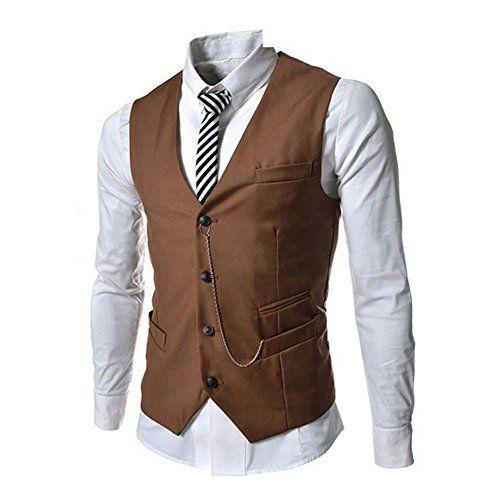 Dark Brown Suit Vest | My Dress Tip
