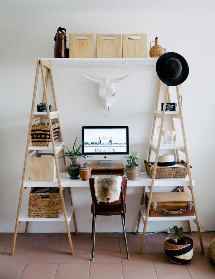 Zona de trabajo· escaleras con baldas