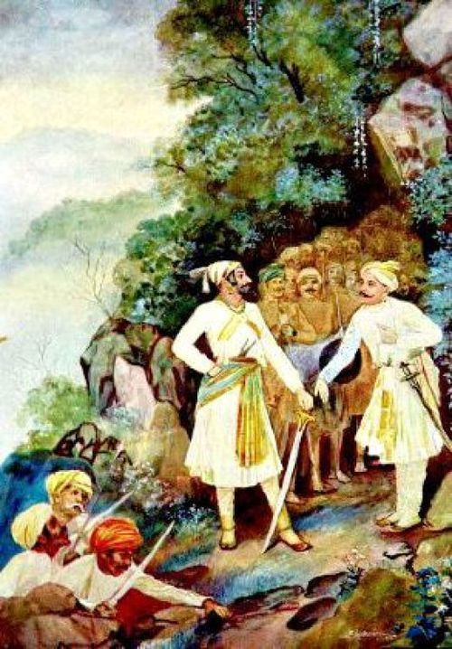 Shivaji Maharaj and Baji Prabhu at Pawan Khind