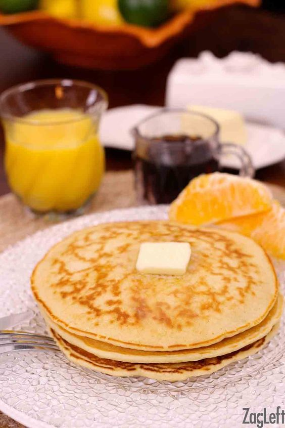 Light and fluffy Pancakes for one!  This single serving recipe is perfect for making a small batch of pancakes…