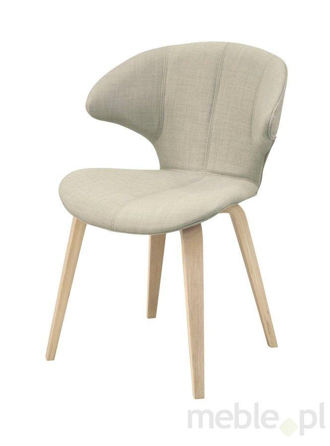 Krzesło SAXO białe, tkanina, dąb 22184-1