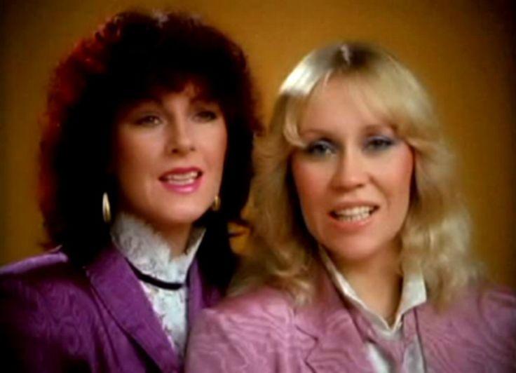 """Anni-Frid Lyngstad and Agnetha Fältskog ABBA """"Happy New Year"""""""