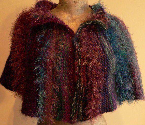 Capelet of Many Colours and Fibres  PDF by uniqueboutiqueknits