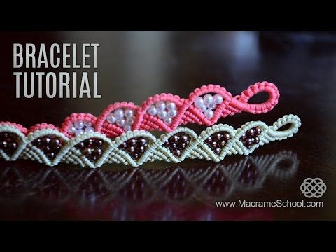 Wave and Triangle Bracelet Tutorial by Macrame School - YouTube
