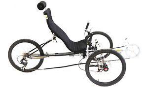 Velo Tricycle couché avec freins à disques et siège Mesh