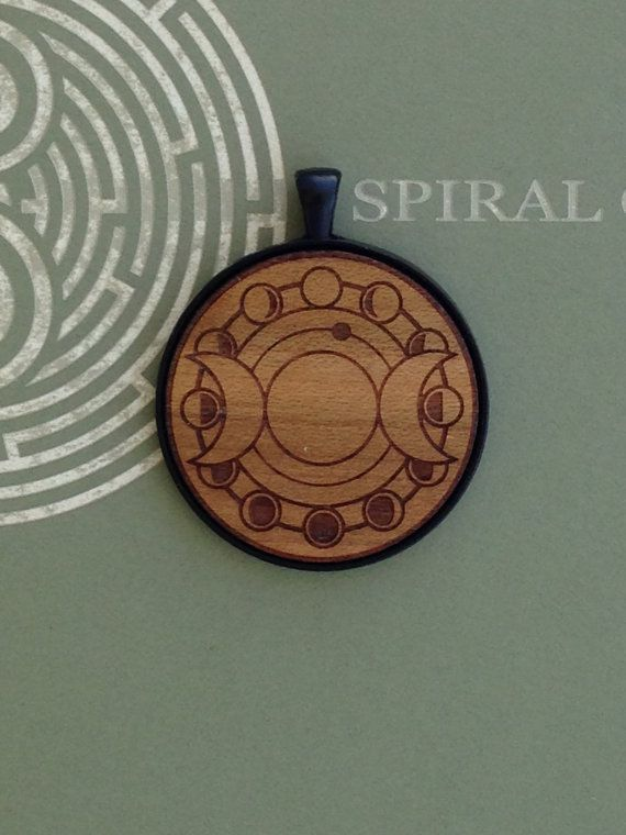 Goddess Moon Cycle Design  Laser Engraved Wood by SpiralCutStudio
