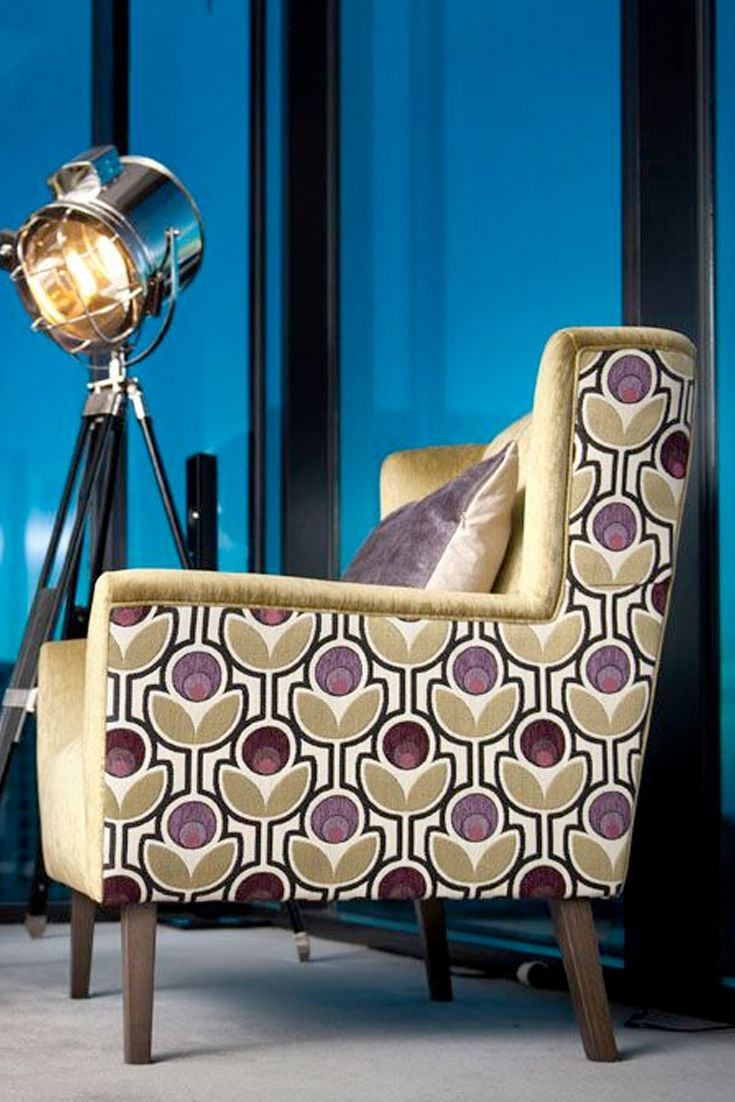 Emme Designs custom upholstered occasional armchair.