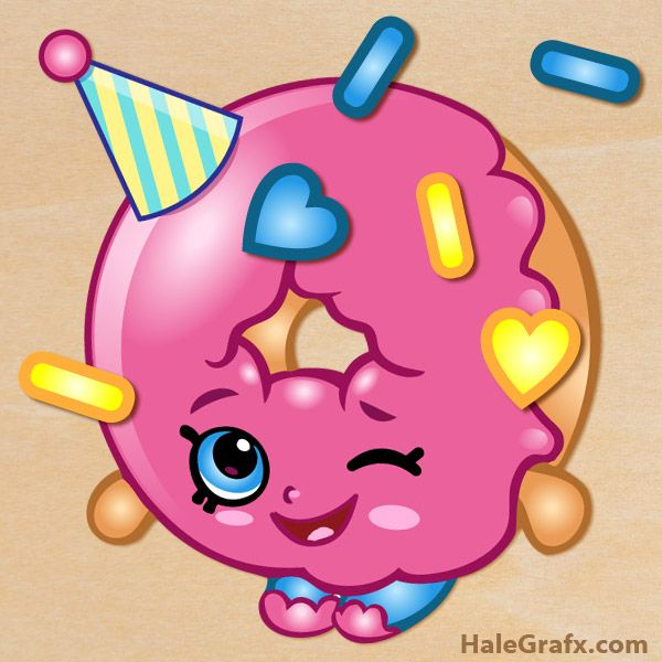 FREE Printable Shopkins Pin the sprinkles on D'lish Donut via karaspartyideas.com and HaleGrafx.com