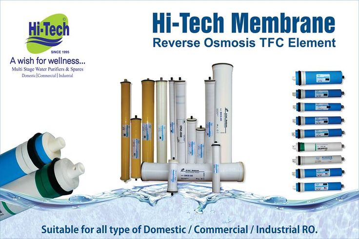 Hi-tech awarding winning RO Membrane suitable fo all type of domestic, industrial and commercial ro plant. http://www.hitechro.net