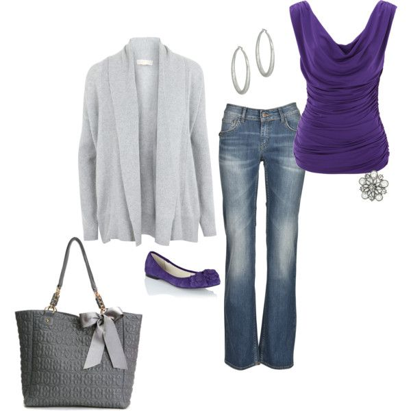 movie date night: Purple Shoes, Outfit Idea, Bright Purple, Shades Of Purple, Lovely Things, Cute Outfits, Casual Outfits, Clothing Fashion, Purple Top