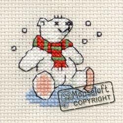 Stitchlets Christmas Card Cross Stitch Kit - Polar Bear