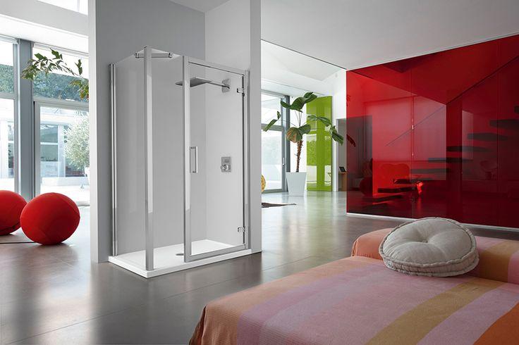#Kuadra di #Novellini è una linea di #boxdoccia del carattere deciso e dal #design solido grazie ai suoi profili di grandi dimensioni e i vetri di 8 mm, che la rendono un elemento d'#arredo di sicuro impatto visivo -  www.gasparinionline.it #doccia #brescia #arredobagno #interiors #style #madeinitaly #bagno #bathroom