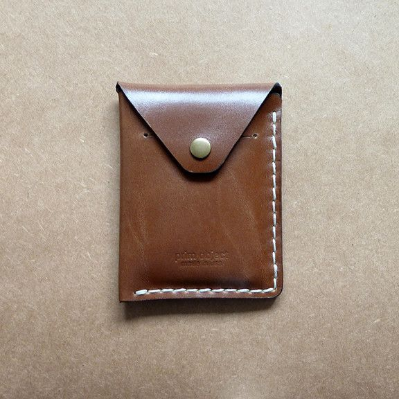 Handcrafted Flap Wallet - Prim Object Leather Craft designs and handmade minimalist leather wallets for men and women. Made in USA. Mens wallet, women wallet, cool wallets, card case, card holder, card wallet-SR