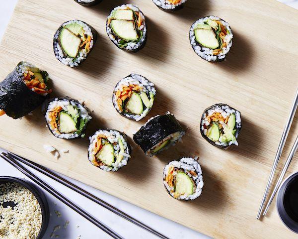 Zucchini Schnitzel Sushi