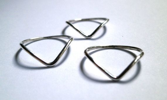 Chevron Ring Knuckle Ring Fine Silver Ring by JewelryByKonstantis