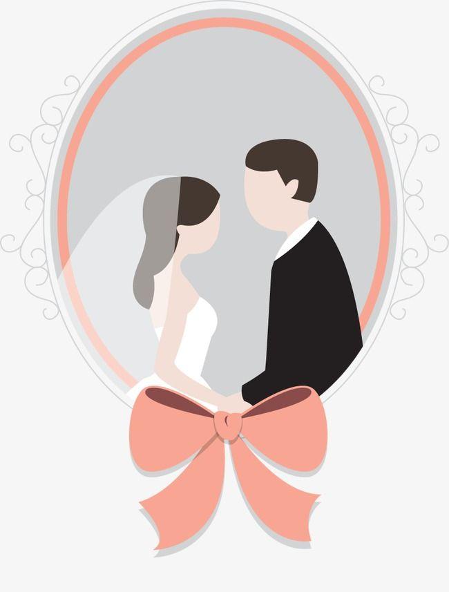 Vector Bride And Groom Png And Vector Bride And Groom Cartoon Wedding Illustration Baby Cartoon Drawing