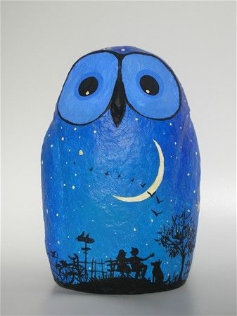 Guardians of the night Owl-paper mache Pinned by www.myowlbarn.com