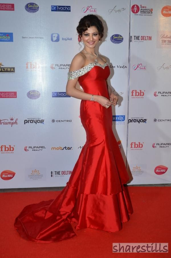 Urvashi Rautela Looking Beautiful in Red Gown