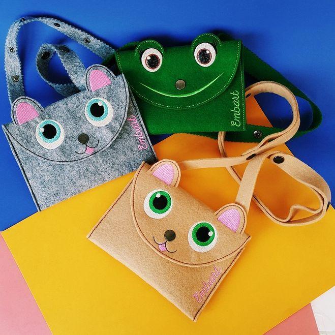 Как сделать из фетра детскую сумочку? Выкройка детской сумки из фетра?