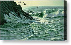 Above The Surf Canvas Print by Paul Krapf