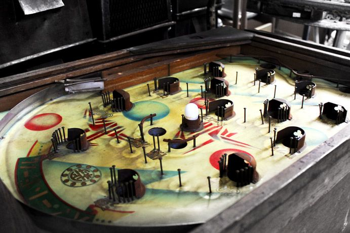 S A L V A G E D | The Interium | Junk and Disorderly 2015  Look at this treasure. An old pinball game