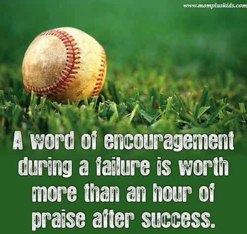 """i've recently been the recipient of """"a word of encouragement"""" during a failure and have found this statement to be more than true. . .the """"word of encouragement"""" came to by a simple comforting touch on my knee as the """"encourager"""" sat beside me:)  thank you, my dear friend. . .~pp"""