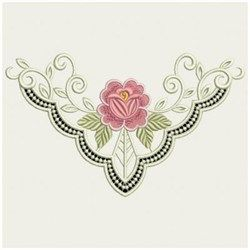 Heirloom Cutwork Neckline embroidery design. This is gorgeous.