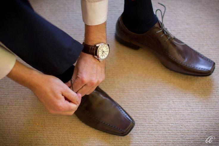bruin leer skoene