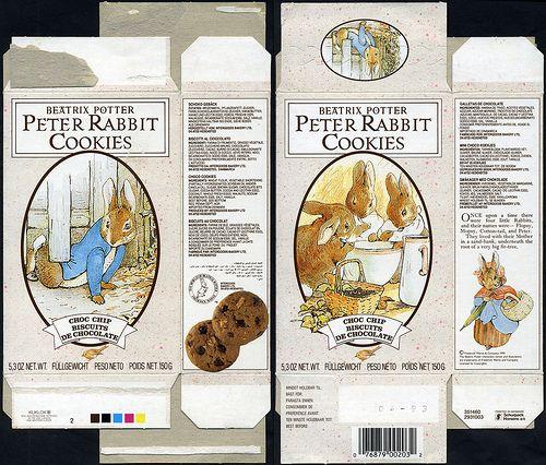 Europe - Beatrix Potter - Peter Rabbit Cookies - Chocolate Chip - box - 1990   Flickr - Photo Sharing!