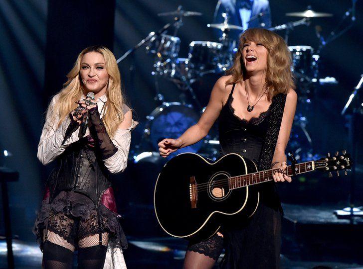Pin for Later: Werft einen Blick hinter die Kulissen bei den iHeartRadio Music Awards Madonna und Taylor Swift
