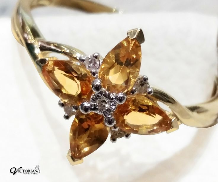 9ct yellow gold Citrine ring