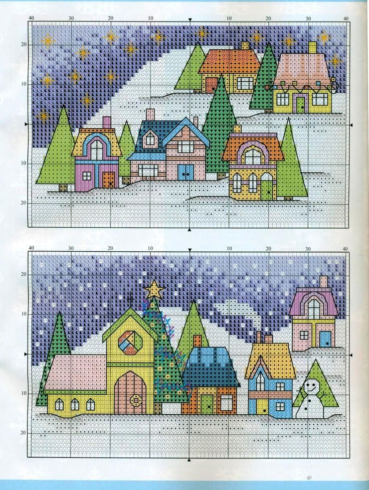 Cross Stitch World: Christmas Houses