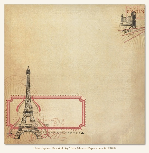Papel decorado para scrapbooking dise o beautiful day - Magasin de scrapbooking paris ...