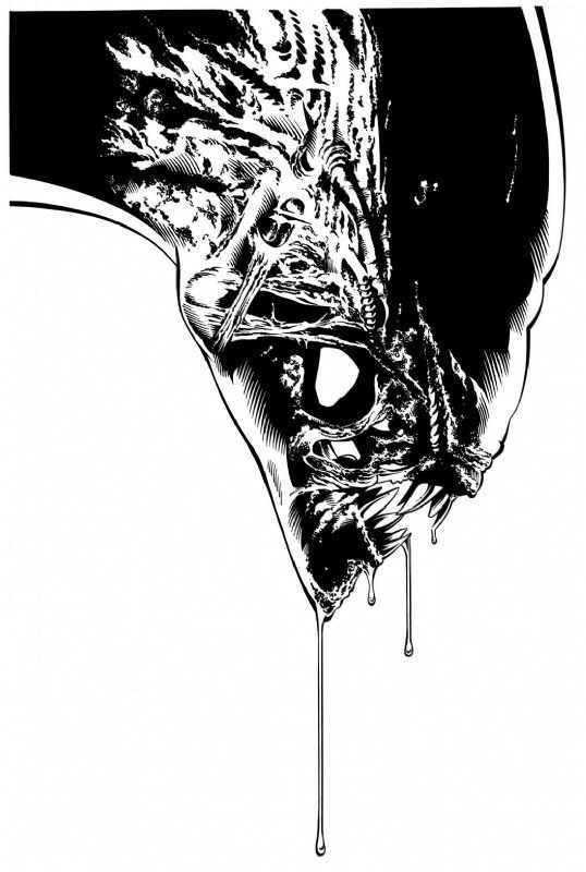 Alien artwork by aaron sowd comic art auction your comics on http www