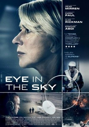 Eye in the Sky - a suspenseful and dramatic film examining a moral and political dilemma. I thought this was a superb film that not only keeps you guessing until the very end, but also really makes you think about authority and whose lives matter! Helen Mirren also does a flawless performance.
