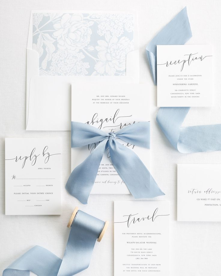 Shine Invitations Has Tips On How To Avoid Wedding Invitation Mistakes Http Www Wedding Invitation Ribbon Blue Wedding Invitations Shine Wedding Invitations