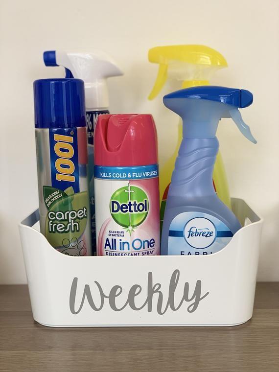 Multi Listing White Storage Basket Personalised Home Etsy Cleaning Cleaning Hacks White Storage Baskets
