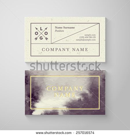 Trendy watercolor cross processing business card template. High quality design…