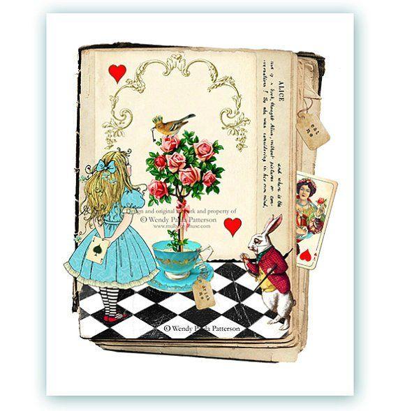 Картинки, алиса в стране чудес почтовые открытки