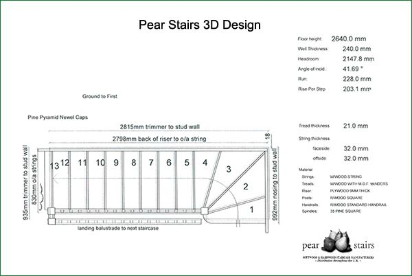 Oliver Staircase - 3d staircase design.