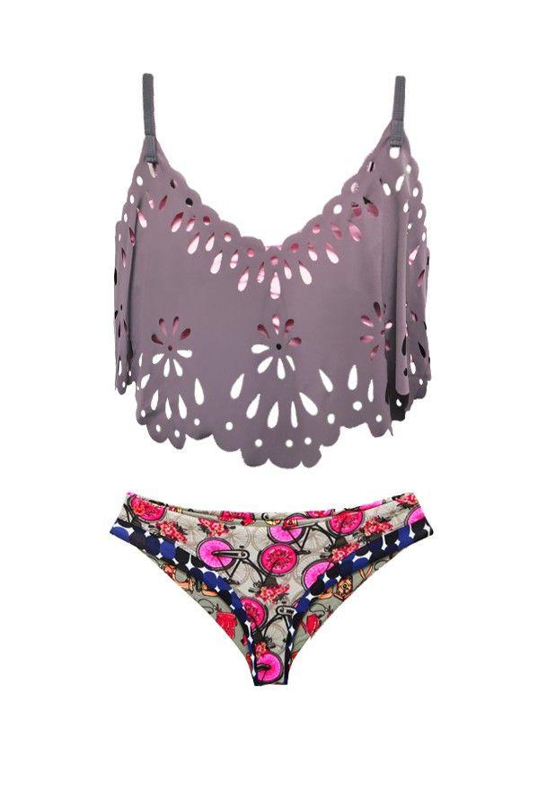 Maaji Swimwear 2015 'Roan Beauty Bikes' Bikini | Orchid Boutique #tankini #swimsuit #veranohigh love this top!!