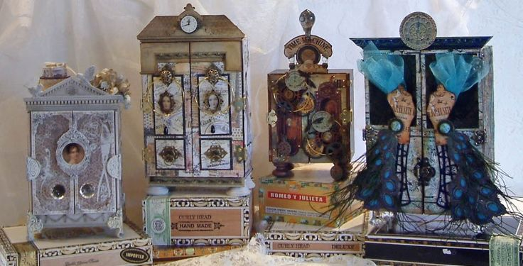 Video Tutorial – Creating an Armoire to Showcase ATCs, Tags, Domino Books and other Small Art Pieces - http://artfullymusing.blogspot.com/2013/04/video-tutorial-creating-armoire-to.html